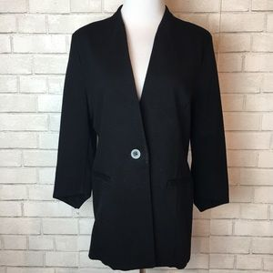 CAbi Black Turner Blazer Jacket Single Button 10